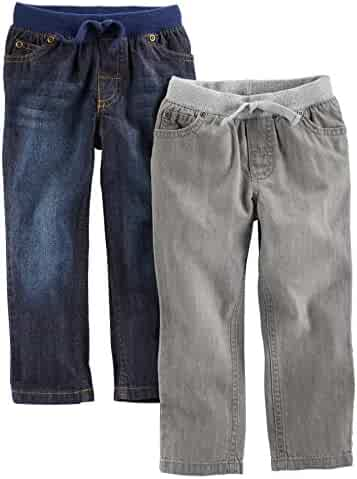 Simple Joys by Carter's Toddler Boys' 2-Pack Pull On Denim Pant