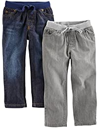 Toddler Boys' 2-Pack Pull On Denim Pant