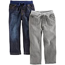 Simple Joys by Carter's Baby Boys' Toddler 2-Pack Pull On Denim Pant,