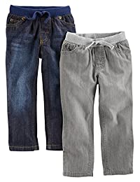 Simple Joys by Carter's Baby Boys' Toddler 2-Pack Pull on Denim Pant