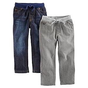 Simple Joys by Carter's Toddler Boys' 2-Pack Pull On Denim Pant