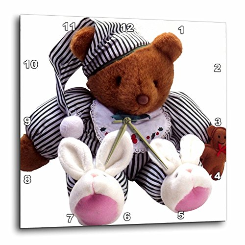 Teddy Bear Wall Clock - 3dRose dpp_33198_3 Teddy Bear-Wall Clock, 15 by 15-Inch