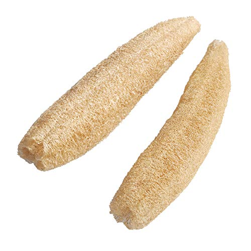 (YIJINSHENG One Whole 100% Natural Loofah Spa Beauty Bath Sponge Scrubber Premium Quality for exfoliating Skin or Kitchen Cleanse Loofahs (2 Pack))