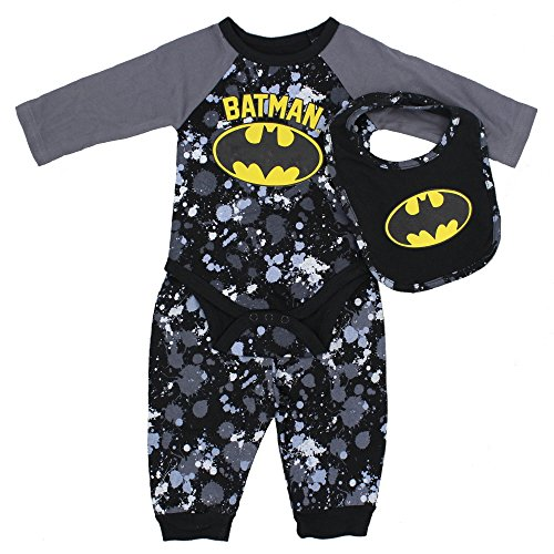 D.C Comics Baby Boys 3 Piece Set - Batman, 3-6 (Batman Outfits)