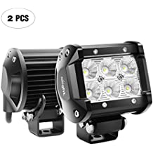 "Nilight Led Light Bar 2PCS 18w 4"" Flood Driving Fog Light Off Road Lights Boat Lights driving lights Led Work Light SUV Jeep Lamp,2 years Warranty"