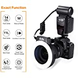 K&F Concept KF-150 TTL Macro Ring Light with LED for Nikon D5100 D3200 D5300 D700 D3300 D300 D200 D90 D80 D70 D5000 D3000 D60 D50 D40 Cameras