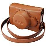 Pentax 85226 Q Vintage Leather Case (Brown)