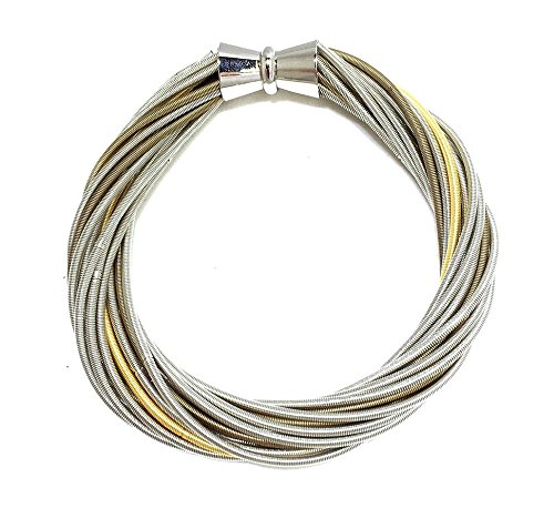 - Sea Lily Multi Piano Wire Bracelet with Magnetic Closure 590
