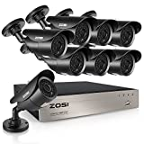 ZOSI FULL 1080P HD-TVI 8CH Security Camera System,8 Channel 4-in-1 Home Surveillance DVR and (8) HD 2.0MP 1920TVL Outdoor/Indoor CCTV Cameras,42pcs IR Leds 120ft night vision, NO Hard Drive