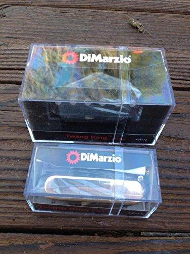 DiMarzio Twang King Tele Pickup Set w/ Chrome Cover DP173 & DP172 Bridge & Neck