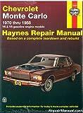 H24055 1970-1988 Chevrolet Monte Carlo Automobile Repair Manual Haynes