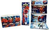 Facial Tissue Kleenex - Spiderman Toothbrush (Red), Kid's Crest Toothpaste, Wet Wipes, Facial Tissue; Personal Care Kit For Kid's! 3-pc (Red)