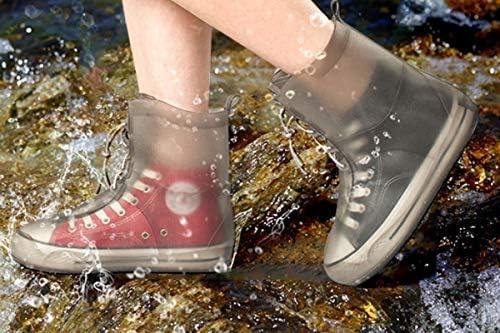 XHYRB 防水靴カバー、防水雨の季節アウトドア旅行靴カバー、男性と女性ノンスリップ太いウェアラブルスタイル、ブルー、ピンク、ホワイト 防水靴、防雨カバー、長靴 (Color : Blue, Size : XXL)