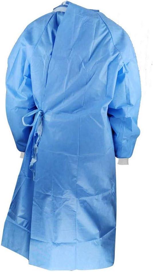 JIekyoi Ropa de protección, a prueba de polvo, ropa protectora antiestática, unisex reutilizable Impermeable Antivaho A prueba de polvo-M
