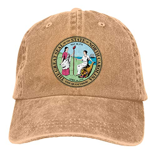 2 Pack Seal of North Carolina Adjustable Cotton Denim Hat Baseball Cap for Adult]()