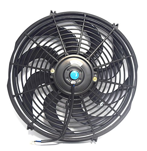 14 INCH Universal 12V Slim Fan Push Pull Electric RADIATOR Cooling Mount Kit 14F ()