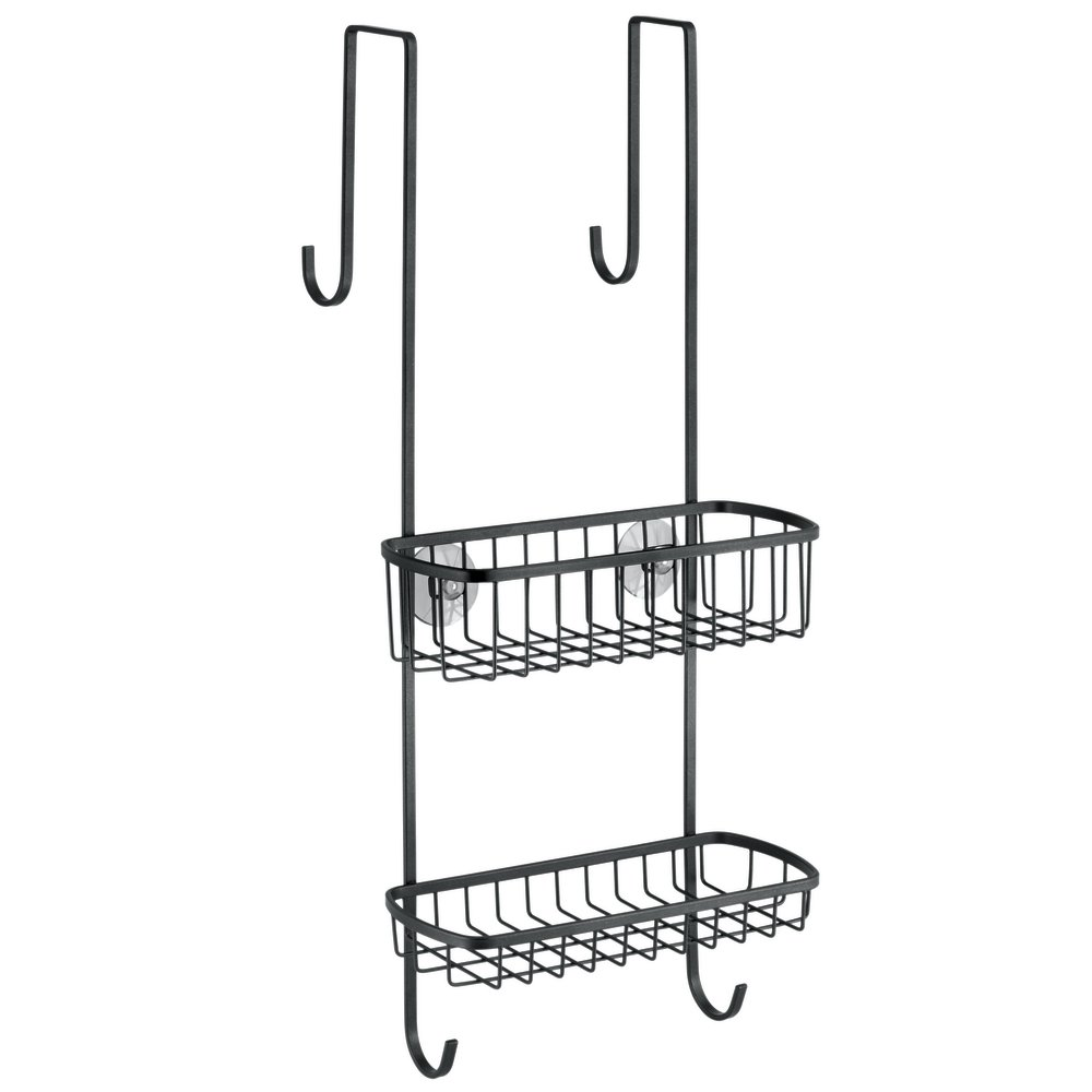 mDesign Over Door Shower Caddy - Practical Shower Shelves - No ...