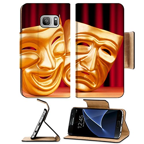 Pantomime Costumes Cheap (Liili Premium Samsung Galaxy S7 Flip Pu Leather Wallet Case Masks with the theatre concept Photo 9546544 Simple Snap Carrying)