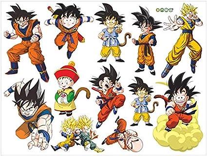 Zhongyanxin Sticker Mural en Vinyle Motif Dragon Ball Z pour Murs Goku Super Saiyan