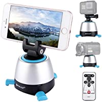 360° Panoramic Shooting, PULUZ Electric Intelligent Tripod Head Rotation with IR Remote Control & Build-in Bluetooth for Most of Cellphones & Cameras Max load: 1KG / 2.2lb