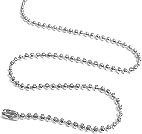 """Pendants Dog Tag Bottle Cap 20 Platinum Silver Color Ball Chain Necklaces 24/"""""""