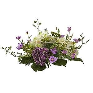Silk Flower Arrangements Nearly Natural Hydrangea Berry Candelabrum with Pot