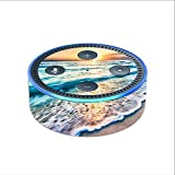 Skin Decal Vinyl Wrap for Amazon Echo Dot 2 (2nd generation) / sunset on beach