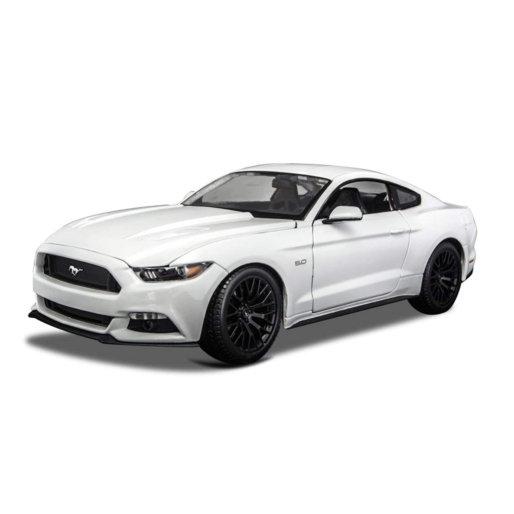 Auto Modello Ford Mustang GT Car Model Modello in Scala 1 18 Die-Casting Modello di Modello Modello statico Collezione Famiglia Decorazione Regalo ( Colore   Bianca )