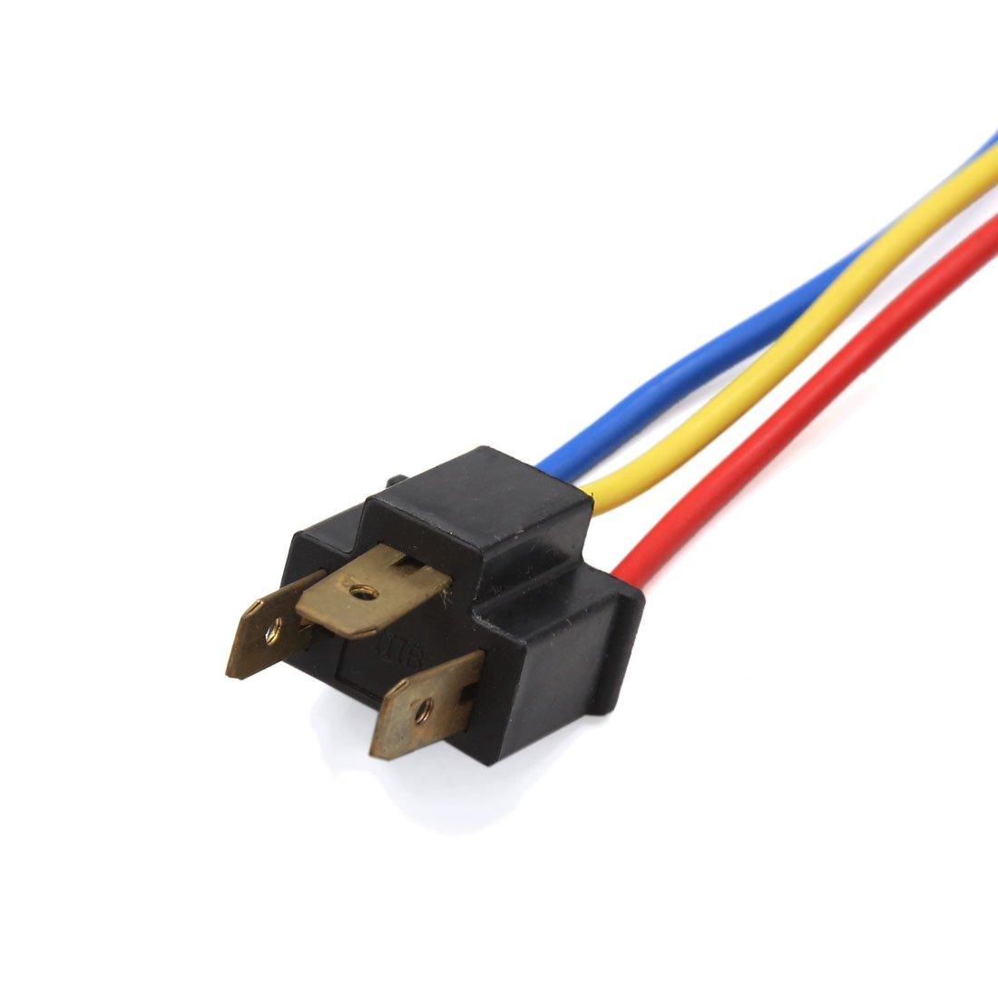 sourcingmap 6uds H4 Conector cableado Adaptador Piloto Antiniebla Enchufe macho