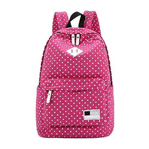 fuerte rosa viajar escuela bolso la hombros lunares Malloom® lona bolsa Mochila de marino para azul YqY0fw6O