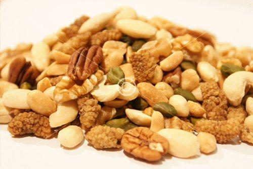 Edle Nussmischung, natur - Paranuss, Pekannuss, Pistazien, Walnuss, Erdnüsse, Preiselbeeren, Maulbeeren, Cashewkerne, Mandeln, Haselnuss - Naturbelassen ohne Zusatzstoffe - Nüsse - Kerne,