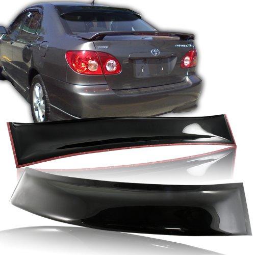 Toyota Corolla Roof - 2008-2011 Toyota Corolla ABS Rear Sun Roof Visor Rain Shadow Vent Deflect Spoiler