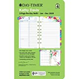 Kathy Davis for Day-Timer 2020 Daily Planner/Appointment Book Refill, 5-1/2' x 8-1/2', Desk Size 4, Two Pages Per Day, Loose Leaf (52112)