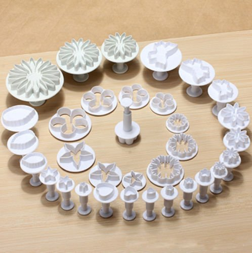 Flower Fondant Cake Decorating Sugarcraft Plunger Cutter Tools Mold Mould Cookies Cutters Marzipan Heart Star Rose Icing Cake Candy & Pastry 1 Set of 33 Pcs (Clay Cutters Circle With Plungers compare prices)