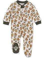 Burt's Bees Sleep and Play Pijama 100% Algodón Orgánico Pijama de una Sola Pieza con Cremallera Frontal Corte Suelto Mono Mamelucos para bebs y Nios pequeos para bebés niñas