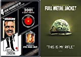 Stanley Kubrick 5-Movie Set - The Shining, Barry Lyndon, 2001: A Space Odyssey, Eyes Wide Shut (Uncesored) & Full Metal Jacket (Iconic Moments Slipcover) 5-DVD Bundle