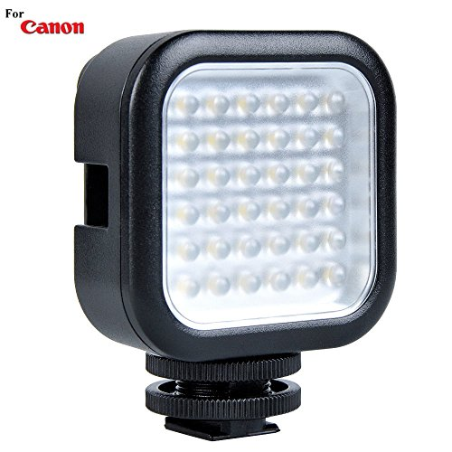 Powerful 36 LED Array Hot Shoe Mount LED Video Light for Canon EOS 7D, EOS 7D Mark II, EOS 60D, EOS 60Da, EOS 70D, EOS 80D, EOS D30, EOS D60 SLR Cameras: Stackable LED Light Panel - Led Light Cannon