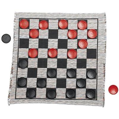 Multiflex Designs Jumbo Checker Rug Game: Kitchen & Dining