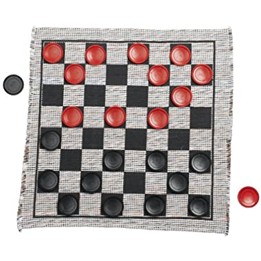 Multiflex Designs Jumbo Checker Rug Game