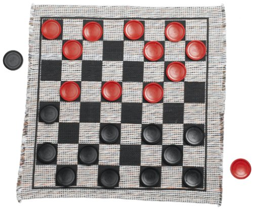 Multiflex Designs Jumbo Checker Rug (Large Checkerboard)