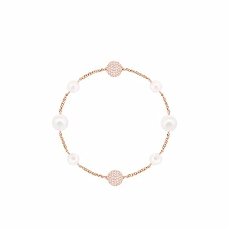 GTVERNH Gift Pearl Bracelet Crystal Hand String Girl Wild Birthday Girlfriend15Cm