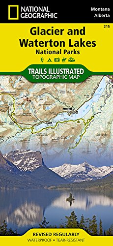 Glacier and Waterton Lakes National Parks (National Geographic Trails Illustrated Map) cover