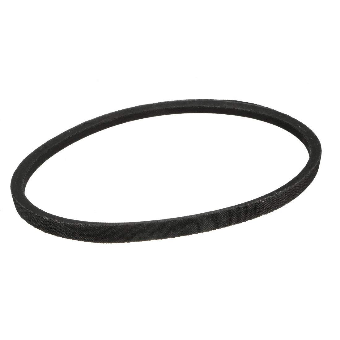 sourcing map O-1050 V Belt Machine Transmission Rubber,Black Replacement Drive Belt