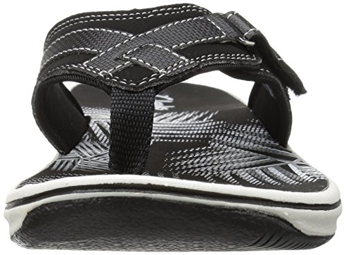 CLARKS Women's Breeze Sea Flip Flop, New Black Synthetic, 8 M US by CLARKS (Image #8)