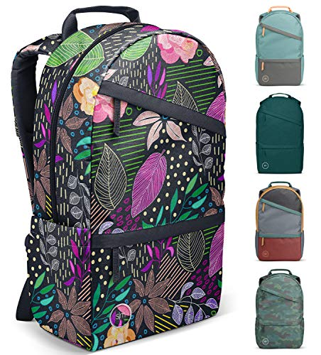 Simple Modern Legacy Backpack with Laptop Compartment, Island Bokeh, 25 Liter