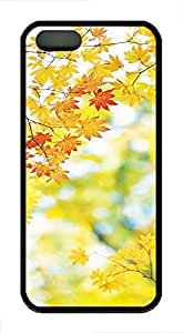 Autumn Maple Leaf - iPhone 5S Case Funny Lovely Best Cool Customize Black Cover