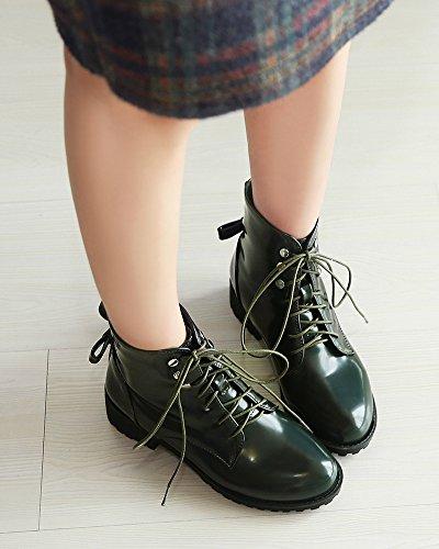 Caviglia Impermeabile Pizzo In Militare Aisun Verde Alla Vernice Fino Chic Delle Donne In Stivaletti 8XqxHwUE