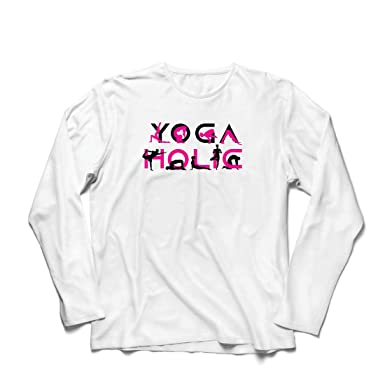 lepni.me Camiseta de Manga Larga para Hombre Yoga Holic ...