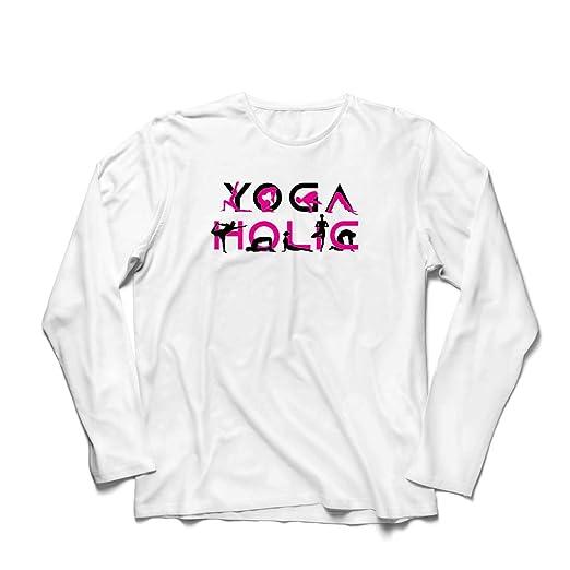 Yoga Mens Long Sleeve T-Shirt 100/% Yogi Fitness Meditate