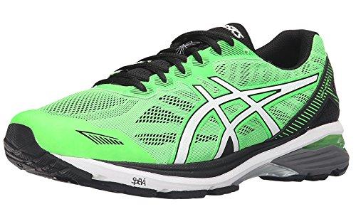 ASICS Men's Gt-1000 5 Running Shoe, Green Gecko/White/Black, 13 M - Black Green